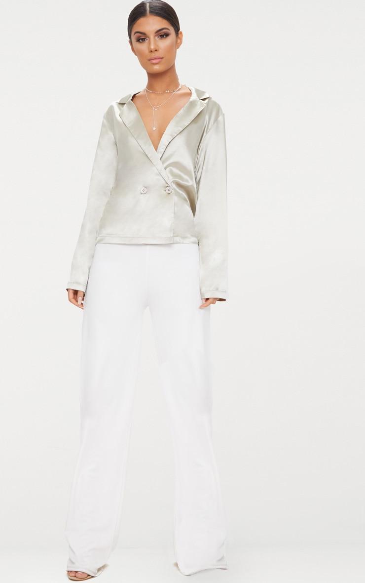 Grey Tux Oversized Satin Shirt  4