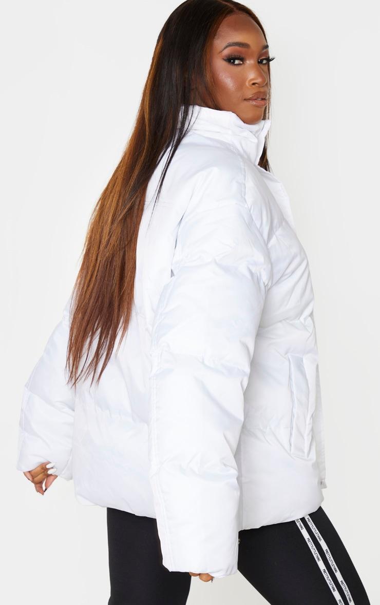 White Extreme Oversized Puffer Jacket 1