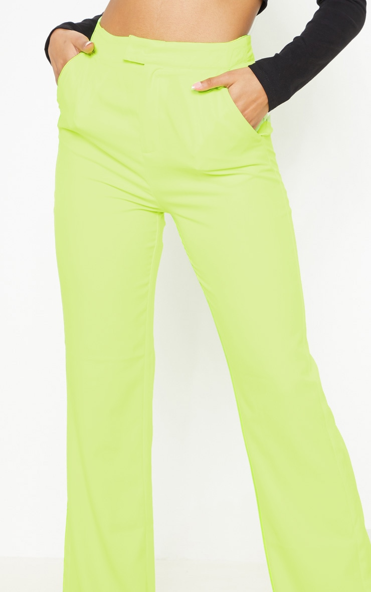 Neon Lime Wide Leg Pants  5