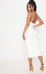 Shape Ivory Slinky Panelled Midi Dress 2