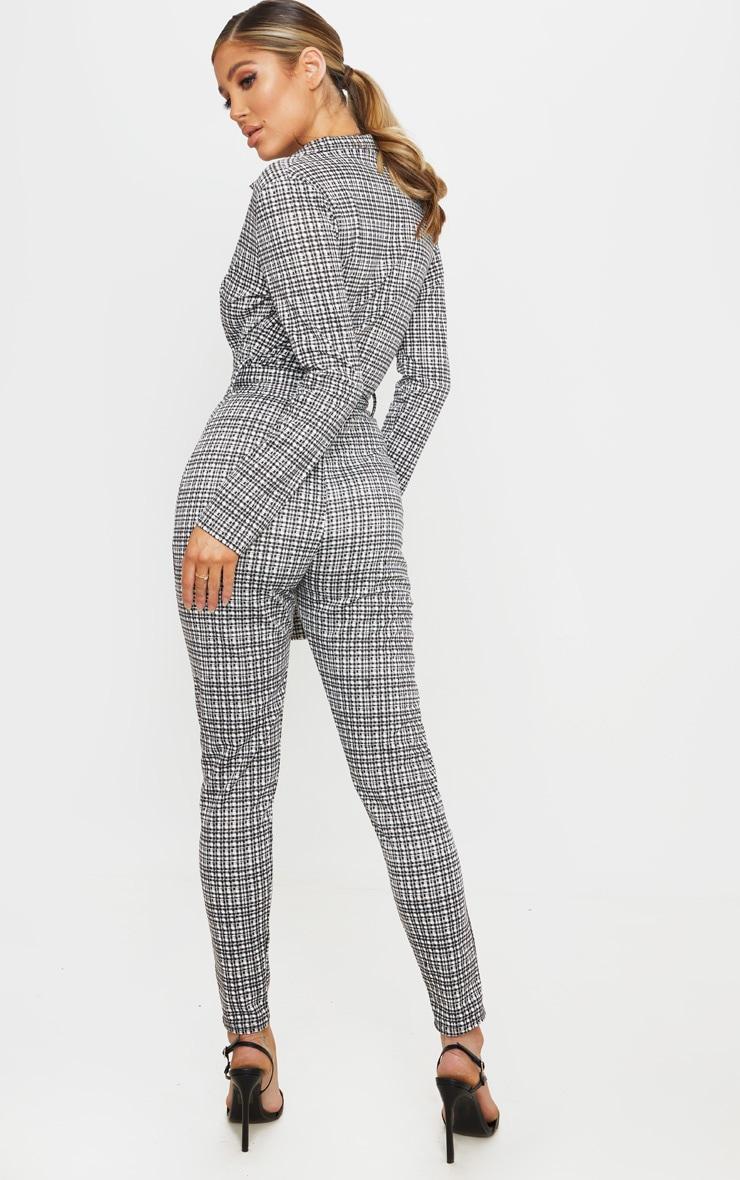 Monochrome Check D Ring Blazer Jumpsuit 2