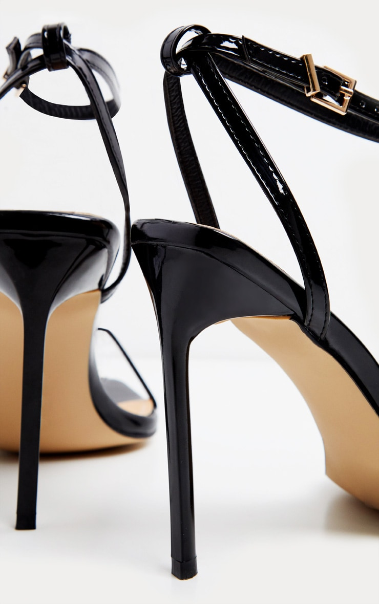 Black Square Toe Strappy Sandal 3