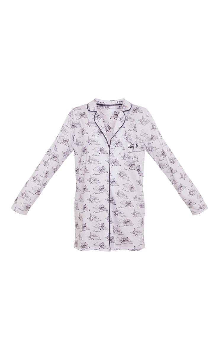 Grey Disney Bambi Print Button Up Nightshirt 5