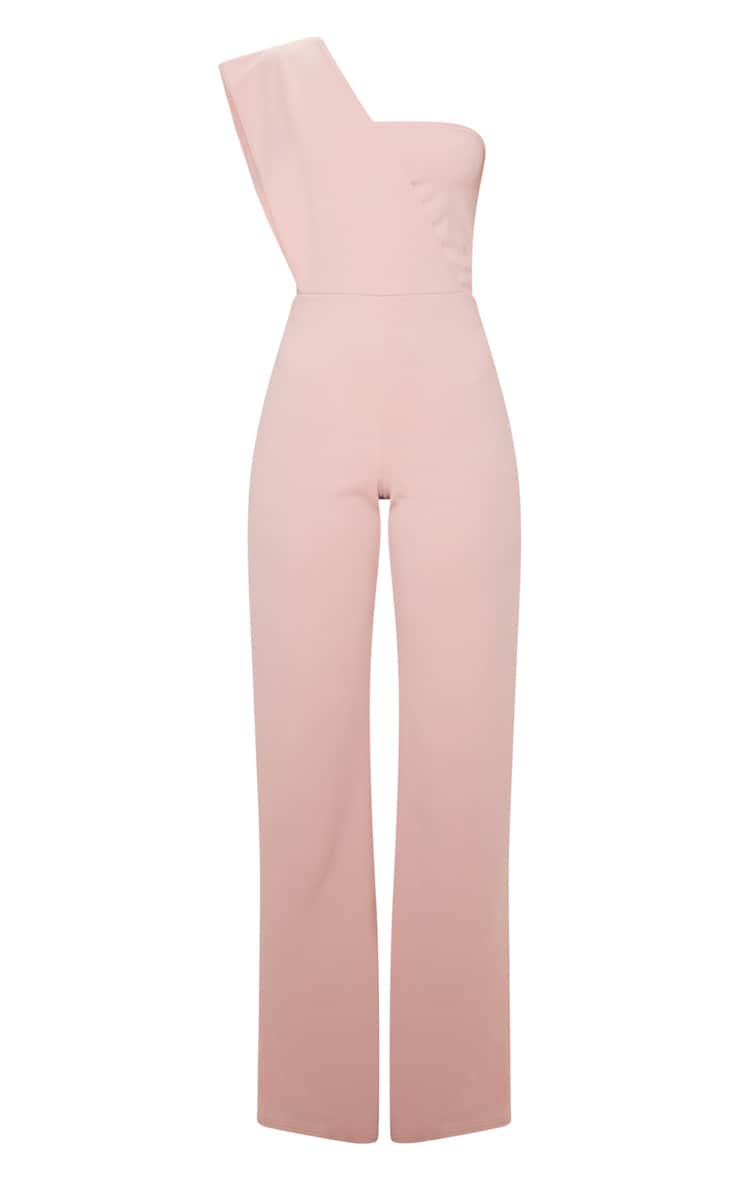 Rose Drape One Shoulder Jumpsuit 3