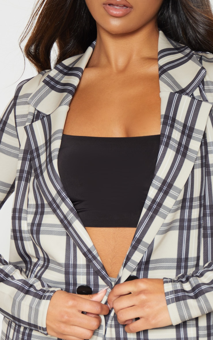 Stone Checked Boyfriend Blazer 5