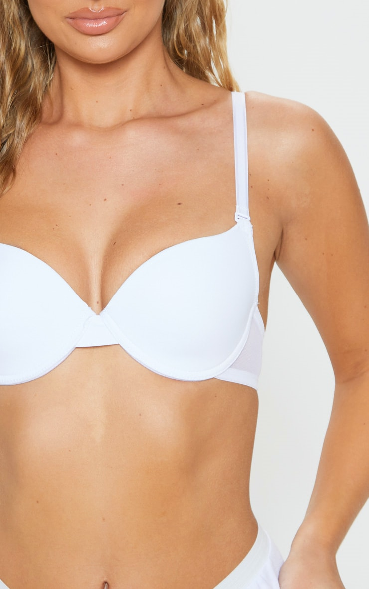 White Basic T-Shirt Bra 5