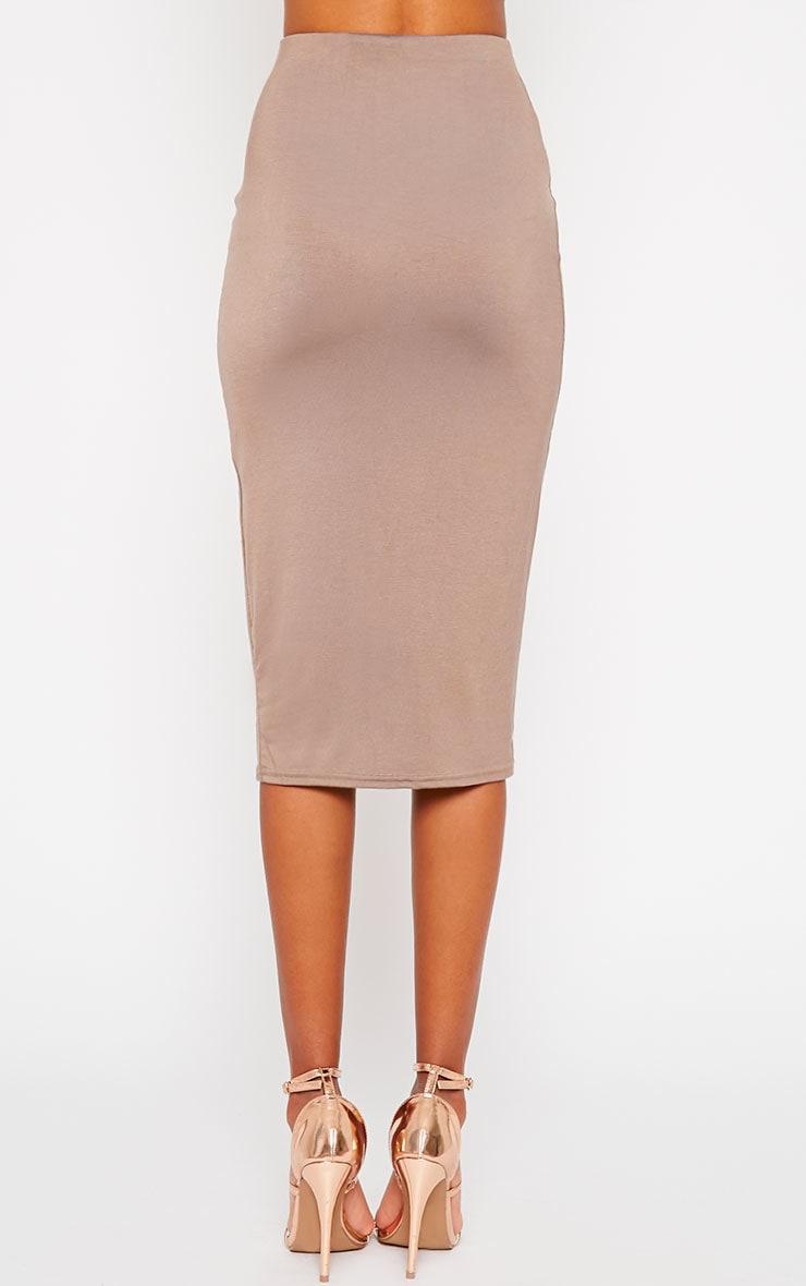 Basic Mocha Longline Midi Skirt 4