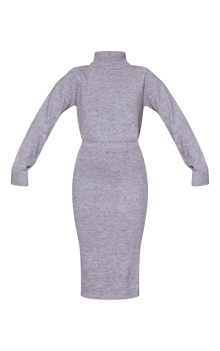 Grey Marl Recycled Knitted Skirt Lounge Set 5