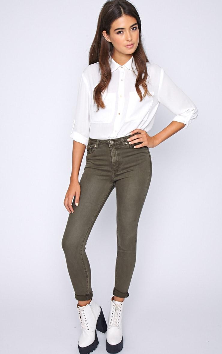 Avis Khaki Super Skinny Jean -M 3