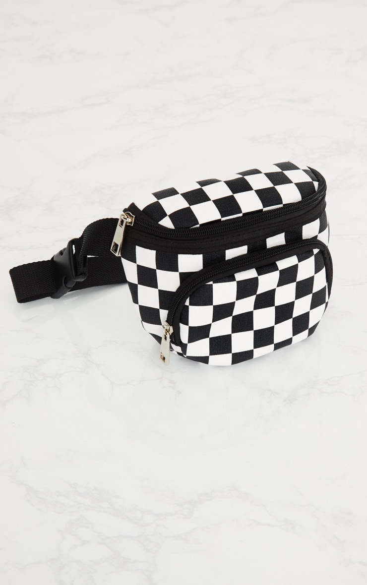 Monochrome Checkerboard Bum Bag 3