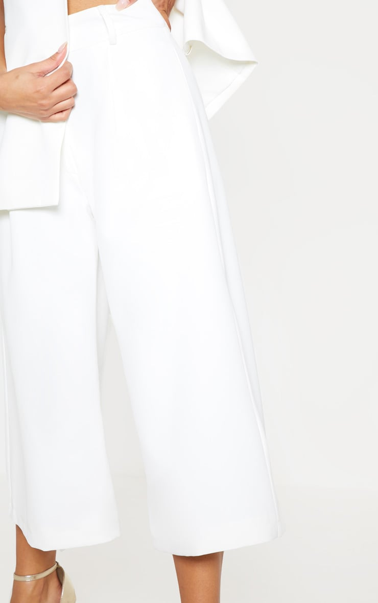 White High Waisted Culottes 6