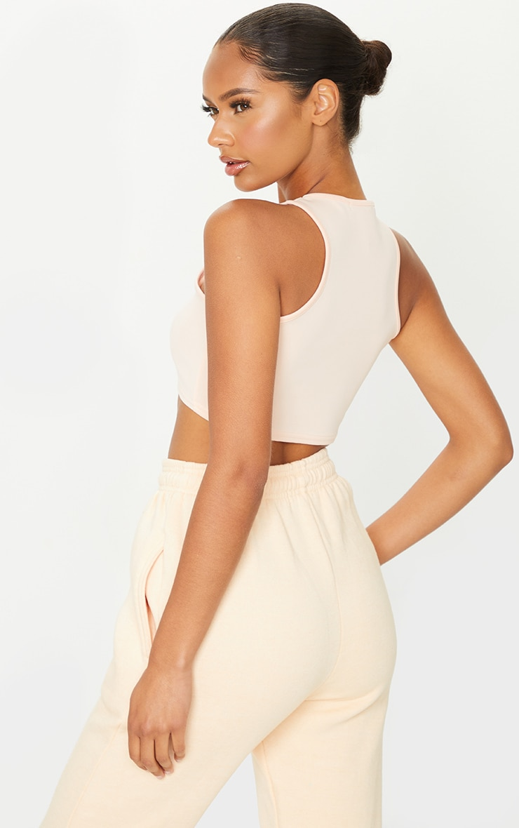 Nude Scuba Racer Neck Crop Top 2
