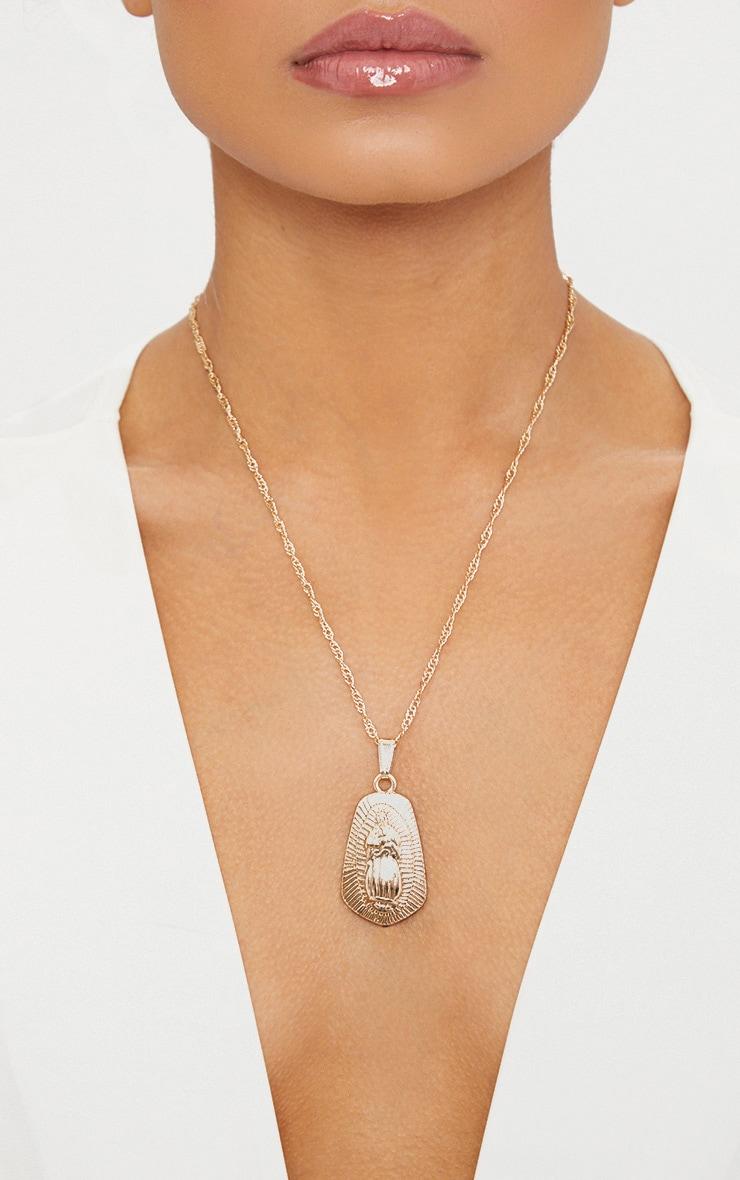 Gold Pendant Drop Necklace 3