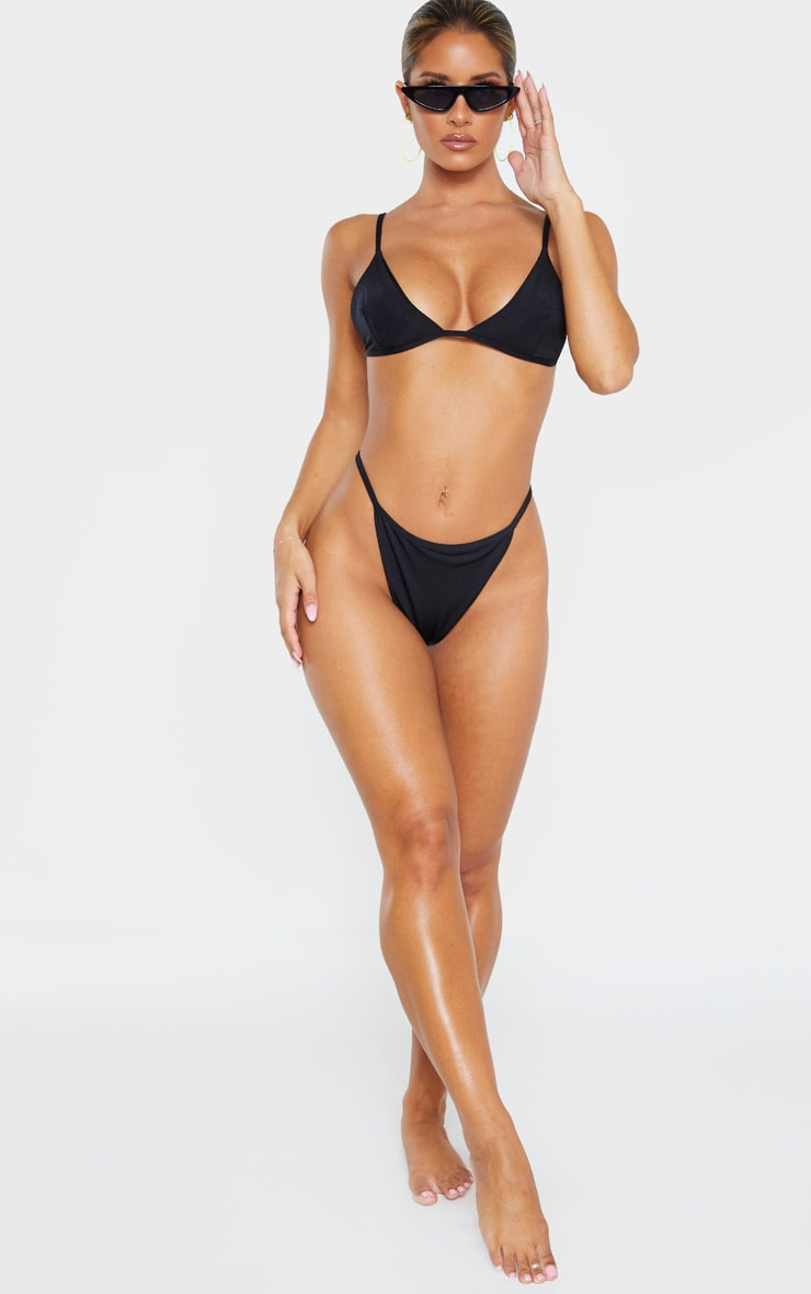 Black Mix & Match String Thong Bikini Bottom 4