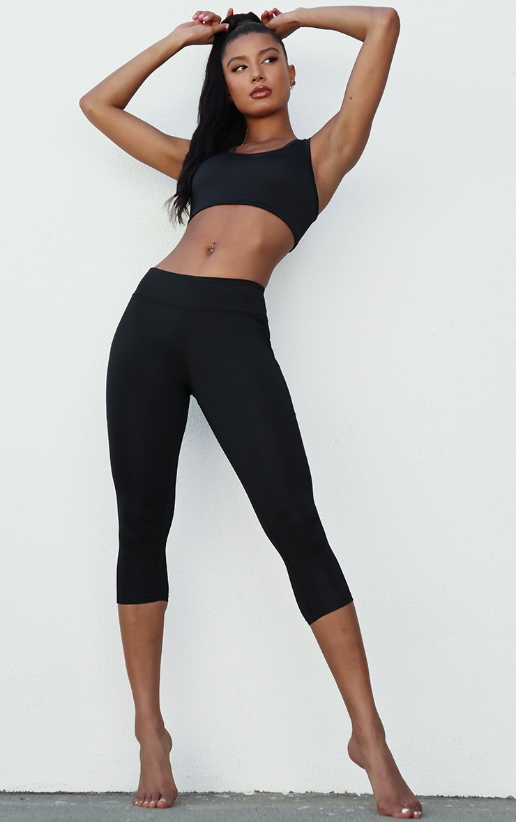 Black Contrast Basic Sports Bra 3