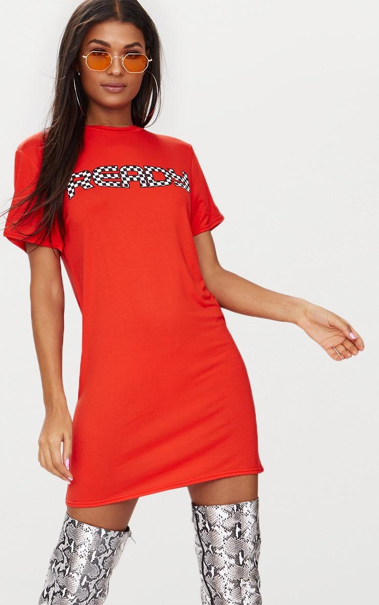 Ready Orange T Shirt Dress 1
