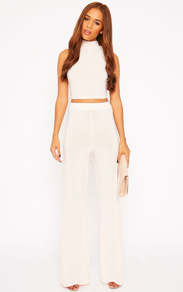 Remi Nude Soft Touch Wide Leg Trousers 5