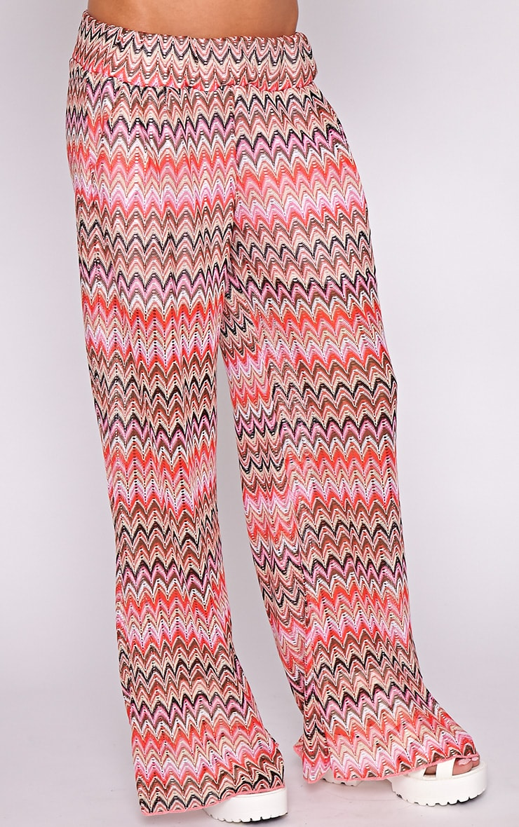 Machiko Red Zig Zag Trouser  3