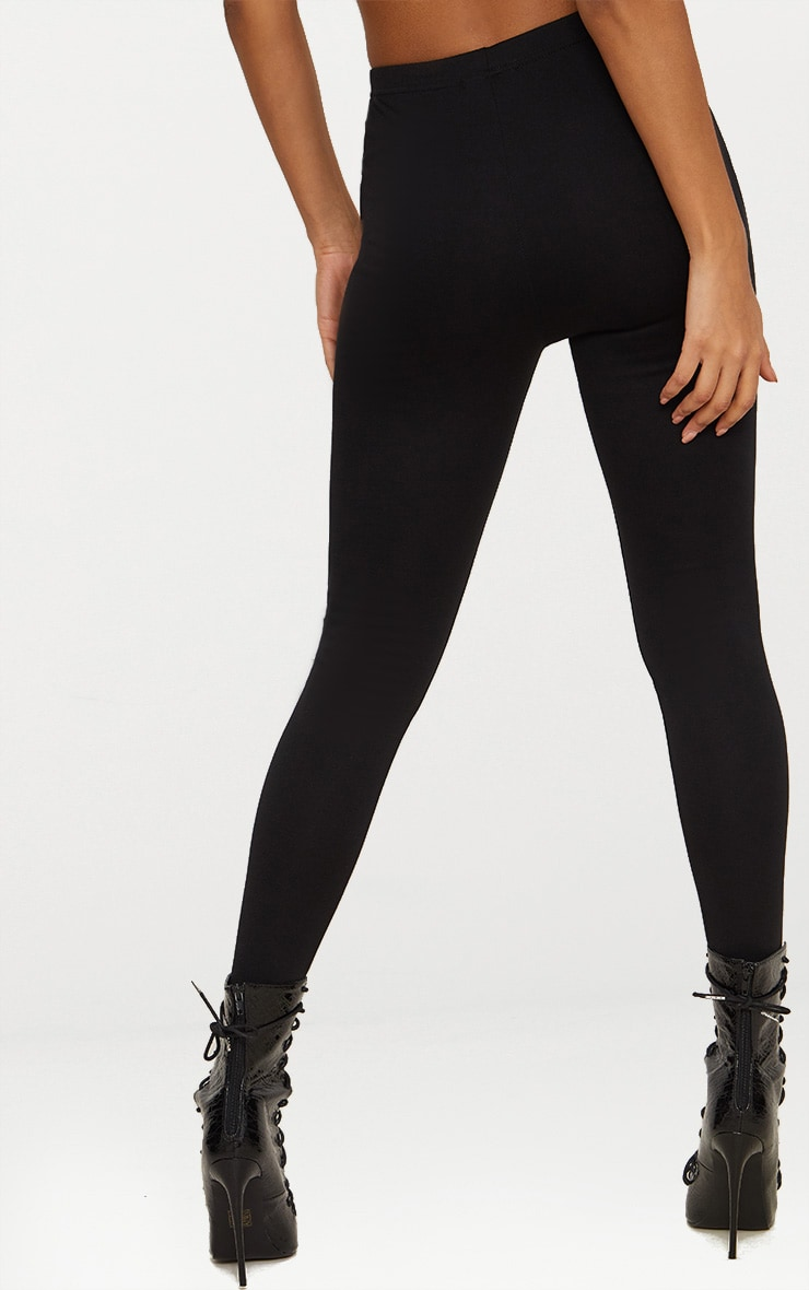Black Button Detail High Waisted Skinny Trouser 3