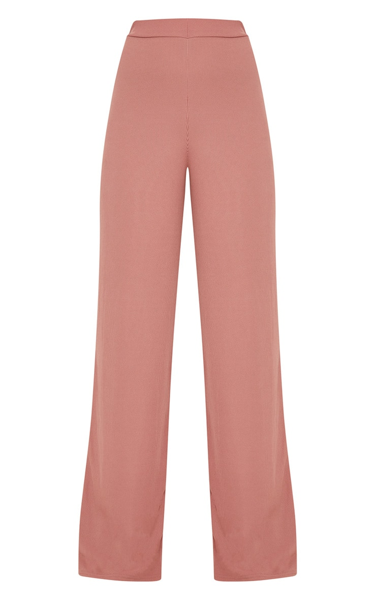 Blush Wide Leg Rib Trousers 3