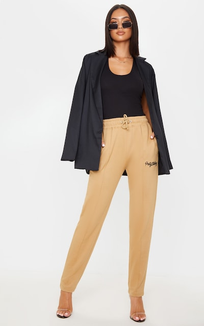 PRETTYLITTLETHING Fawn Tapered Jogger