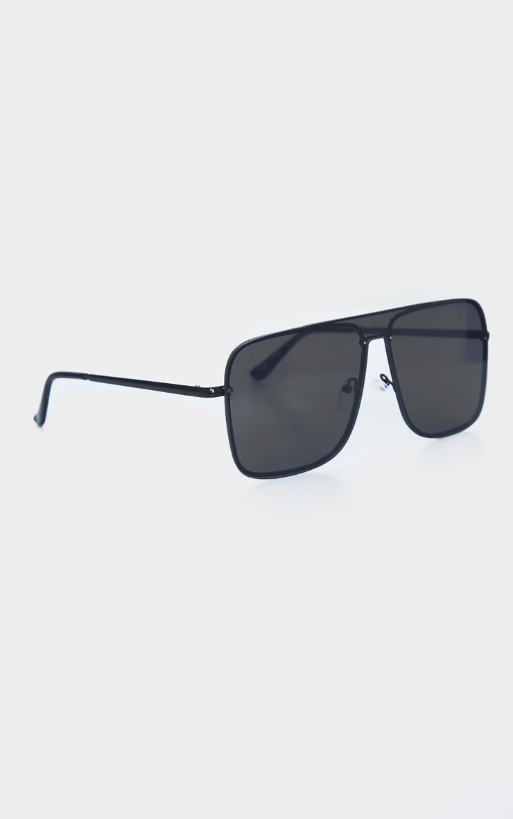 Black Revo Square Frame Oversized Sunglasses 3