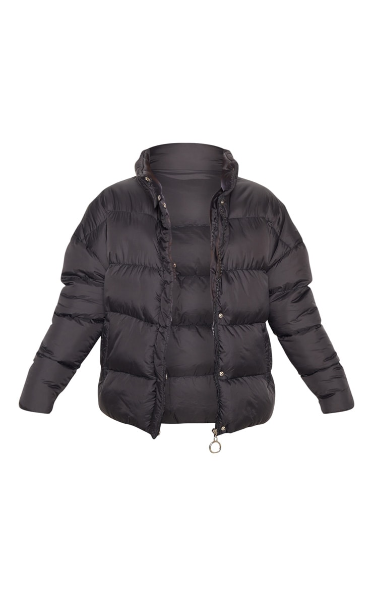 Black Oversized Boyfriend Puffer 3