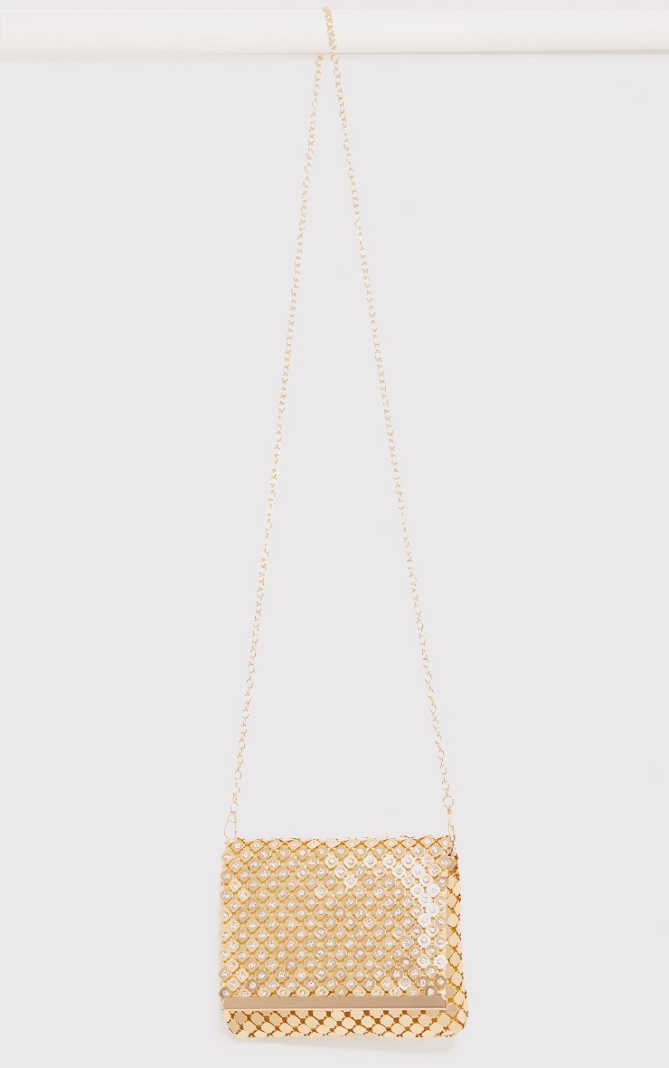 Jolee Gold Chainmail Clutch 4