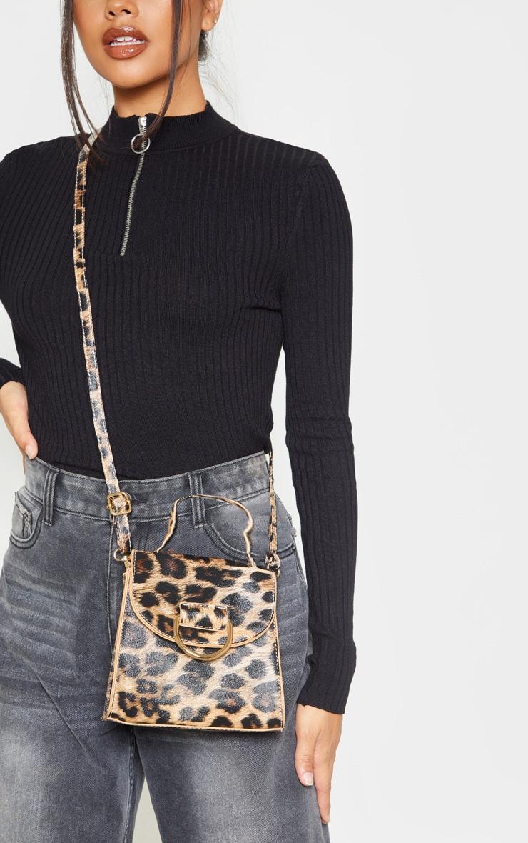 Leopard Ring Detail Mini Bag 2