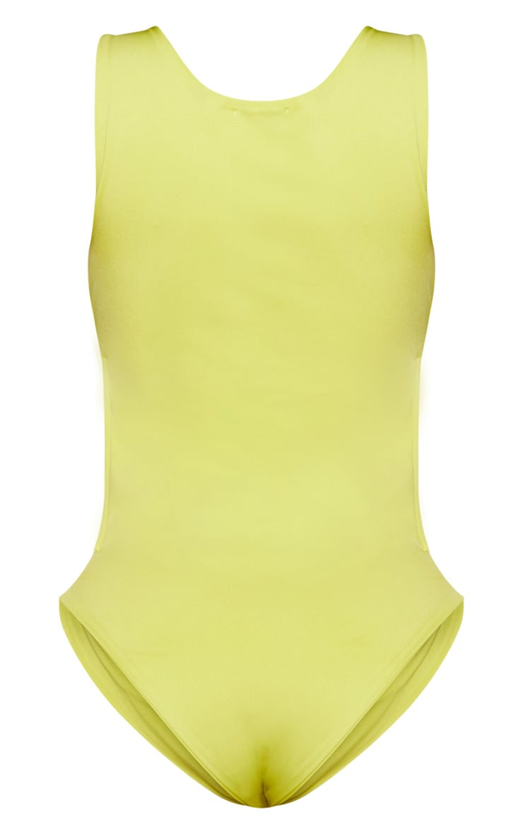 Shape Lime Cut Out Front High Leg Swimsuit 4