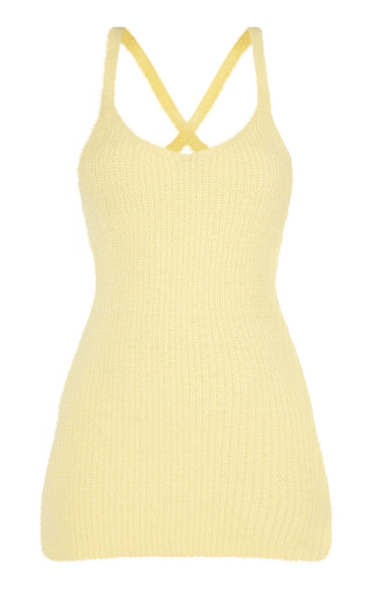 Lemon Eyelash Knitted Mini Dress  3