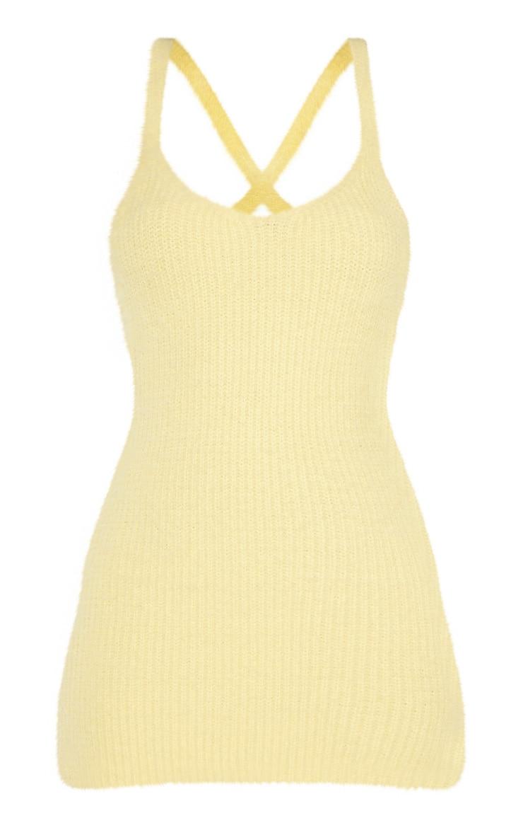 Lemon Eyelash Knitted Mini Dress 3