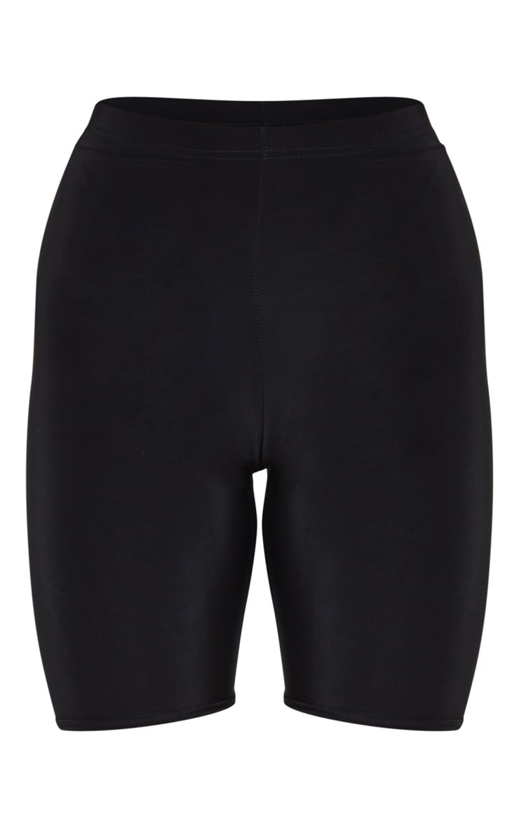 Bella Black Slinky High Waisted Bike Shorts 7