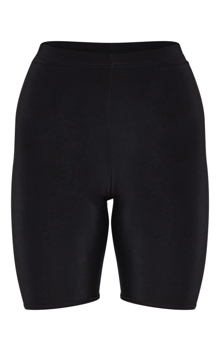 Bella Black Slinky High Waisted Bike Shorts 8