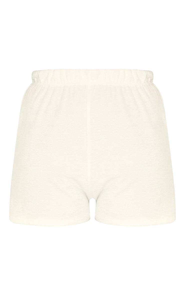Cream Towelling Floaty Shorts 6