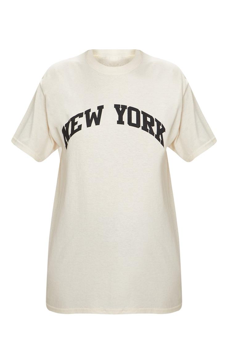 Sand New York Slogan Oversized T Shirt 3