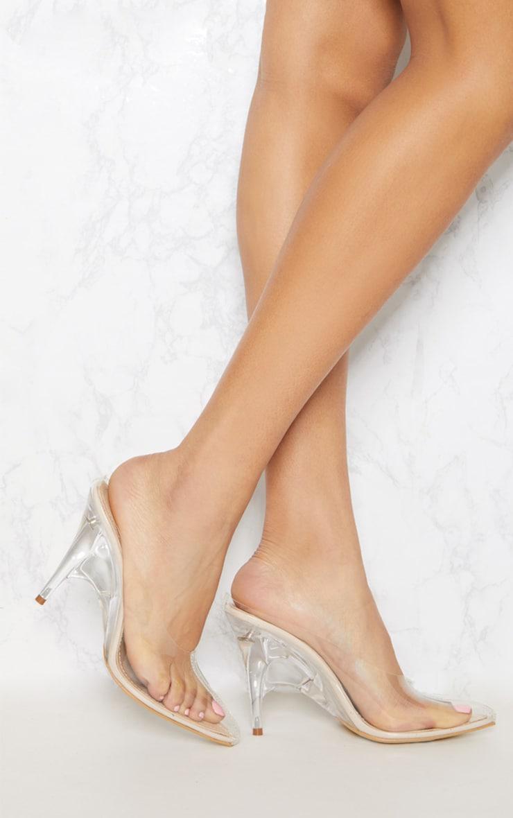 Clear Heeled Mules 1