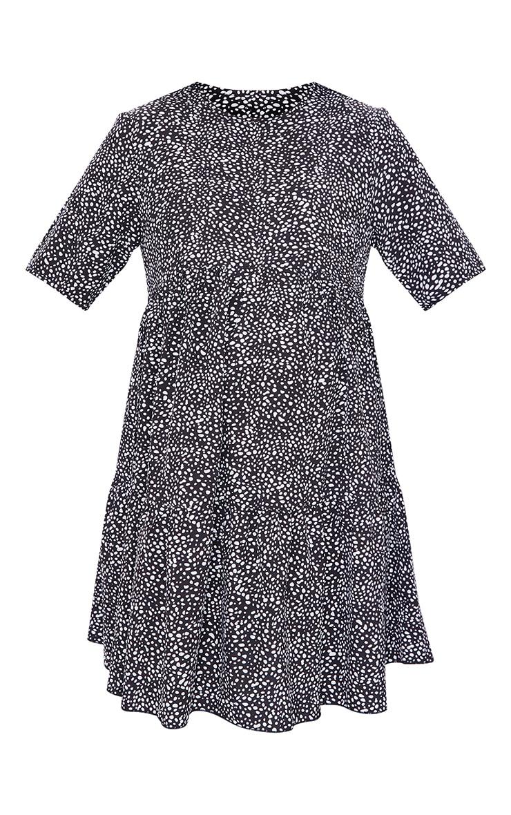 Maternity Black Animal Printed Ruffle Mini Dress 5