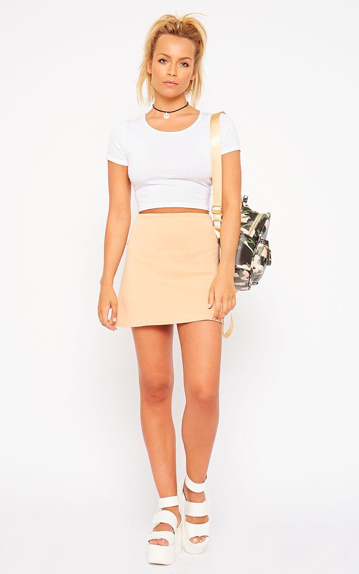 Lauryn Camel Scuba A Line Skirt 5
