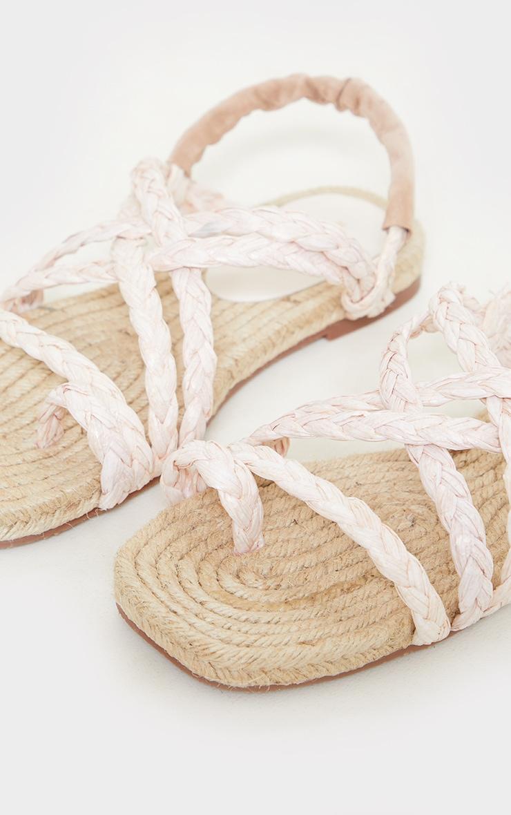 Natural Plaited Multi Strap Sandals 3