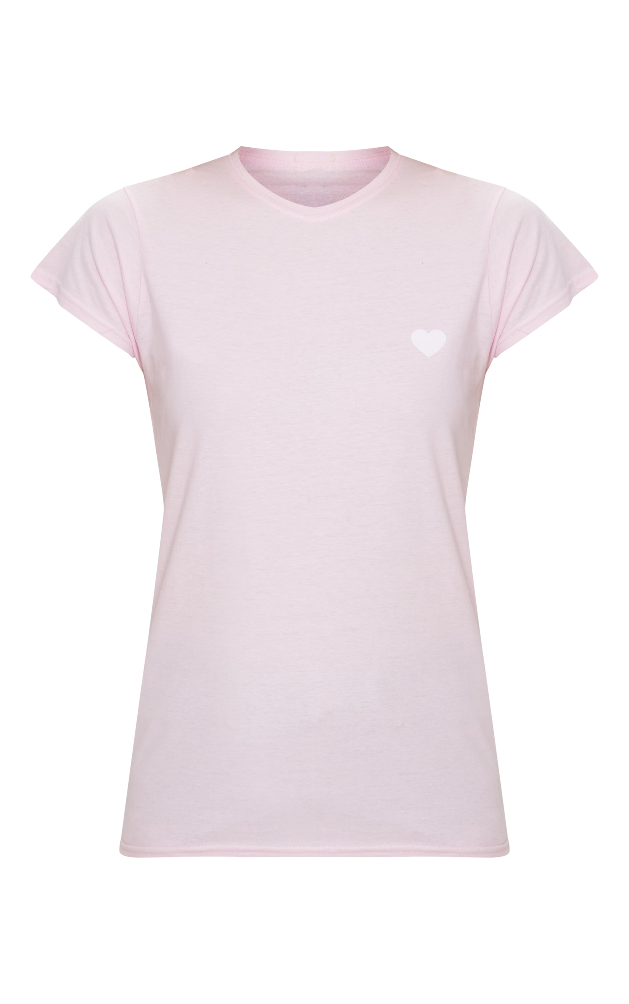 Pink Love Heart Jersey T Shirt 3