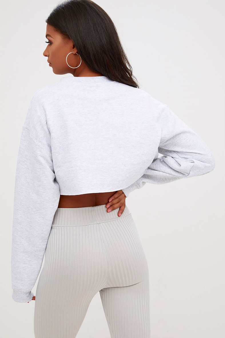 Ash Grey Ultimate Cropped Sweater 2