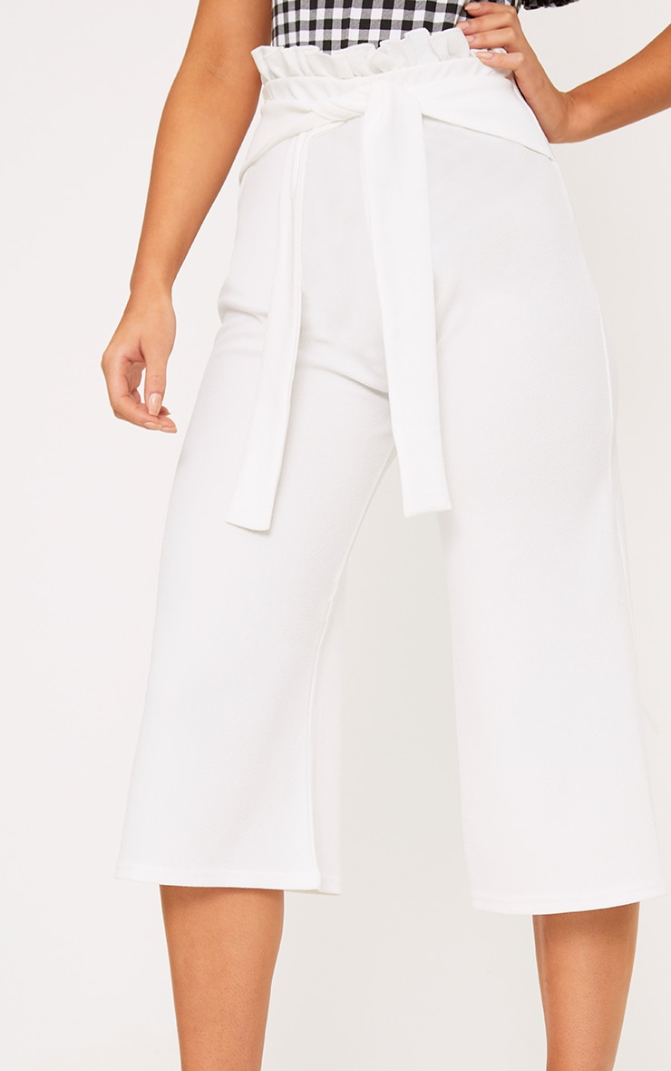 White Paperbag Culottes 5