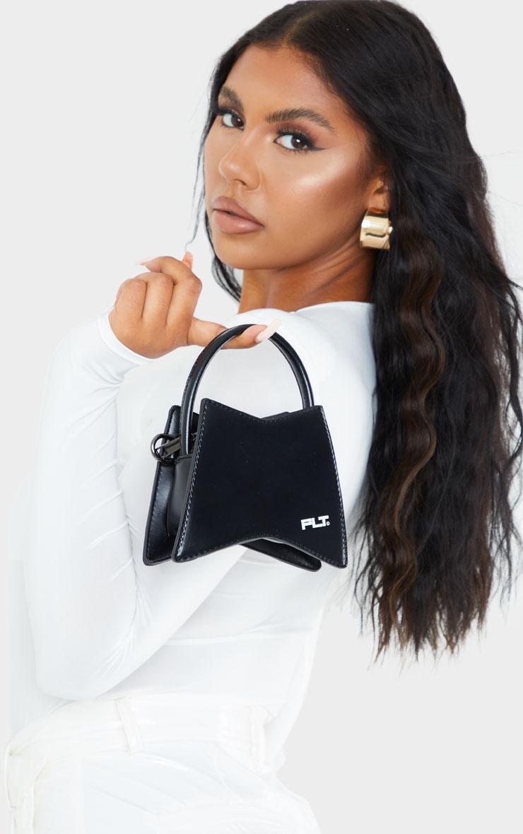 PRETTYLITTLETHING Black Triangular Mini Bag 1