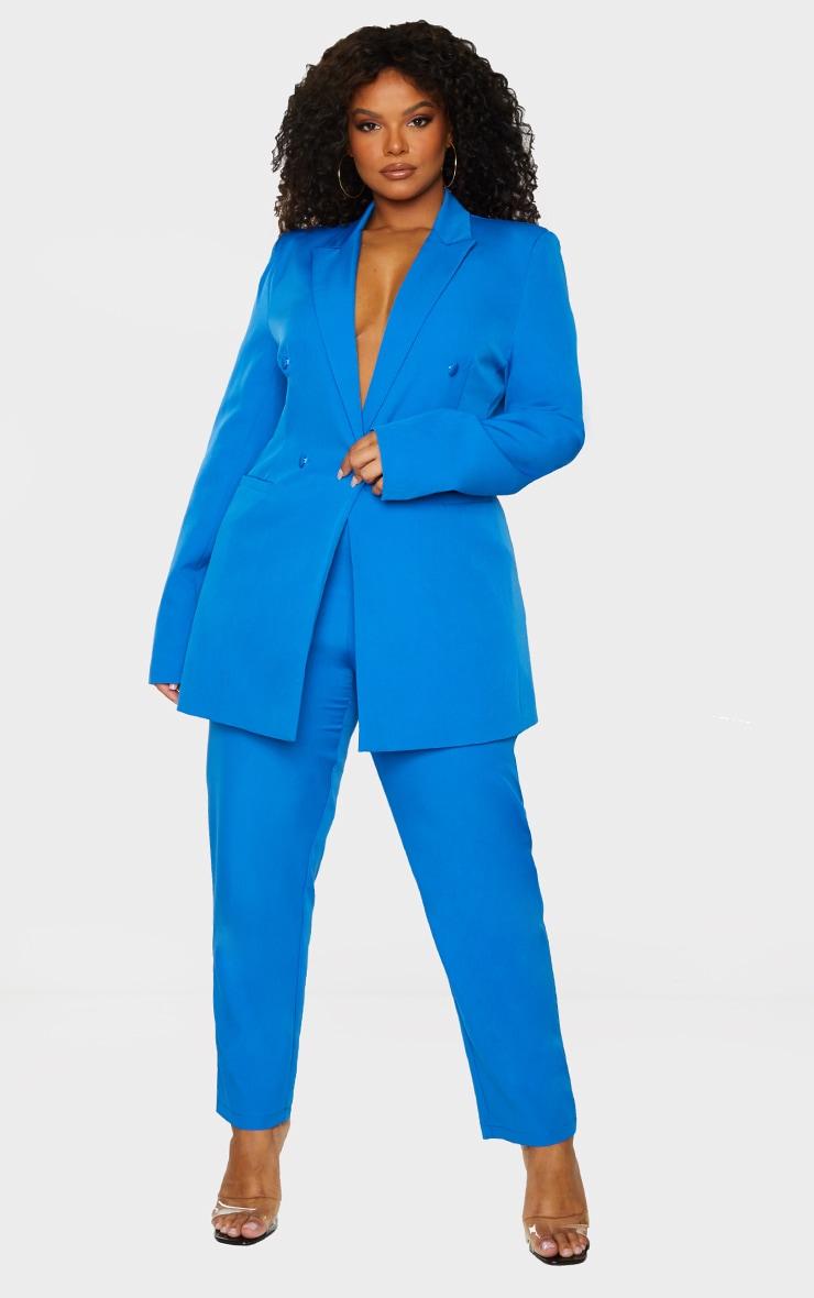 Plus Blue Cropped Pants 1