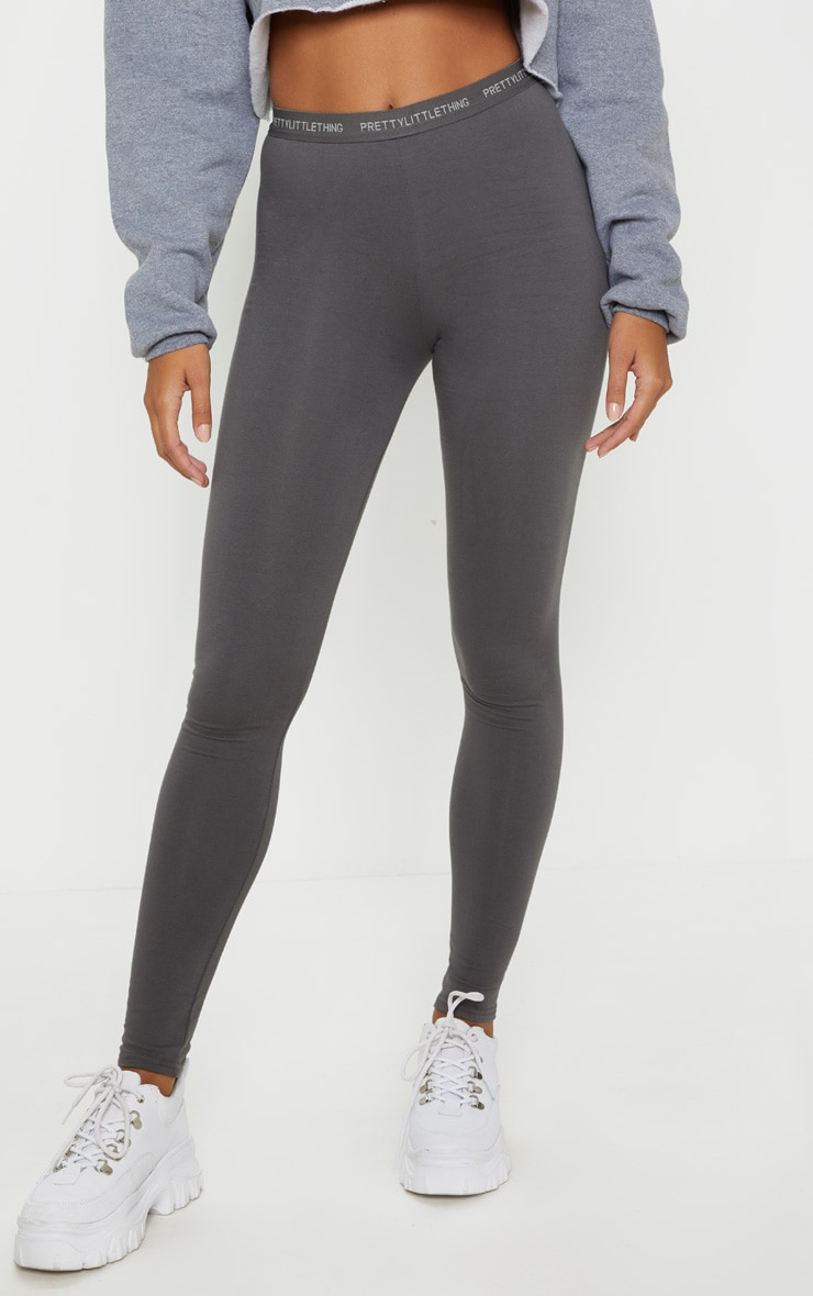 Charcoal Grey PRETTYLITTLETHING Leggings 2