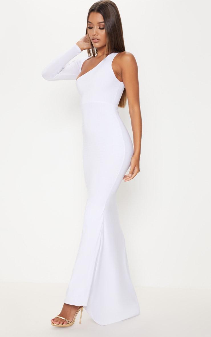 White Wrap Sleeve Maxi Dress 4