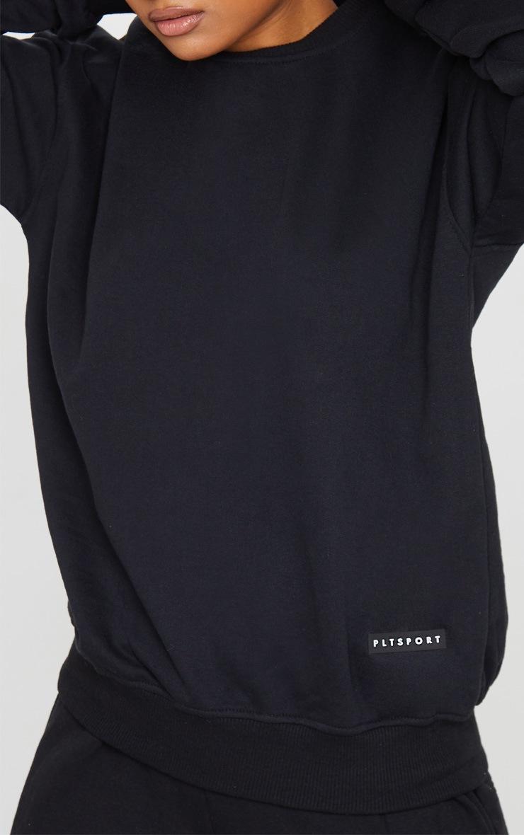 PRETTYLITTLETHING Black Badge Detail Sport Sweater 4