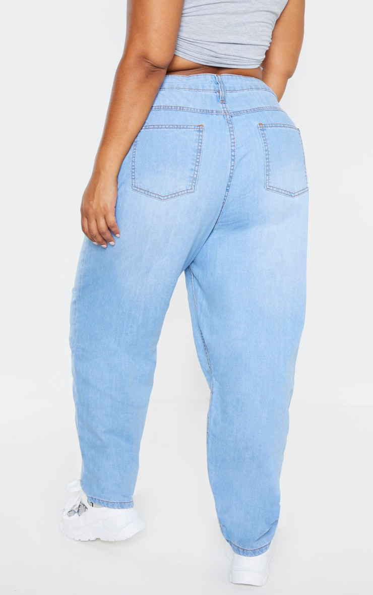 Plus Light Wash Straight Leg Jean 3
