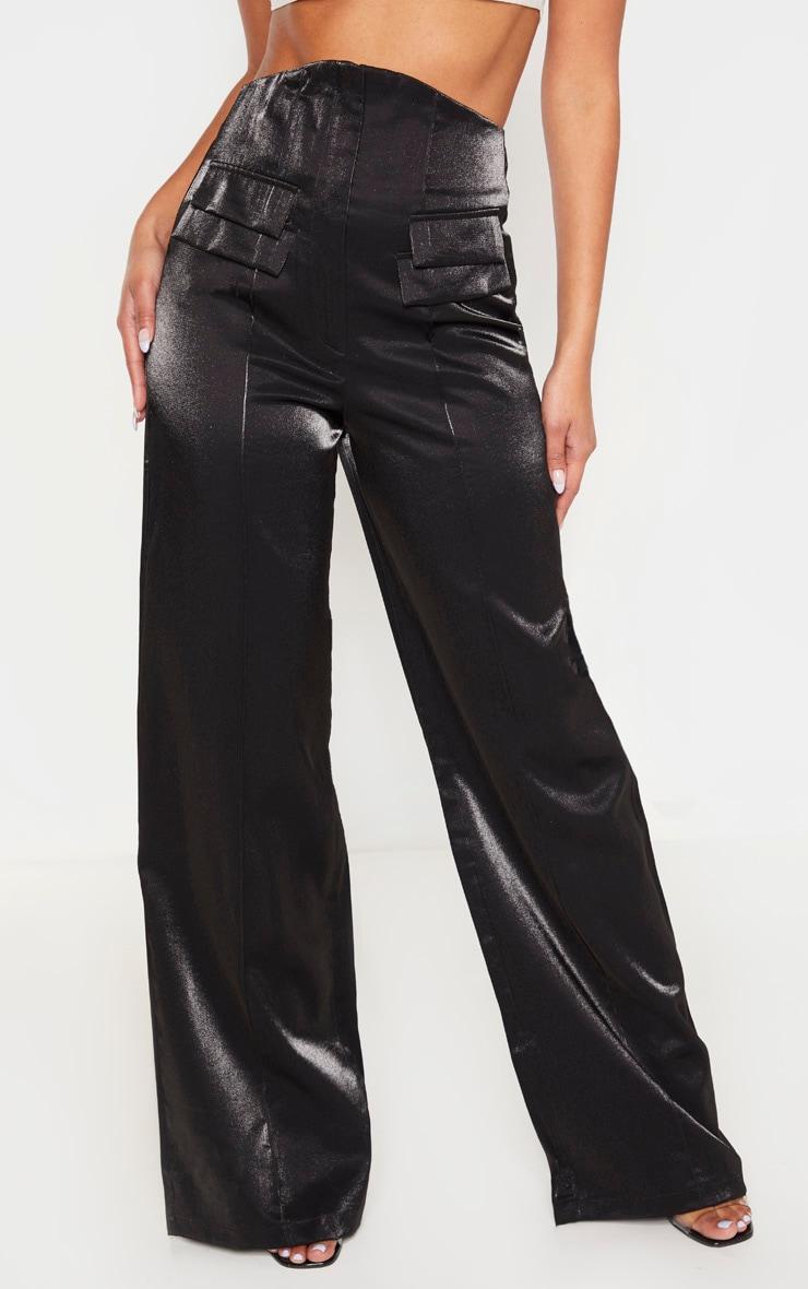 Black High Waist Corset Pants 4